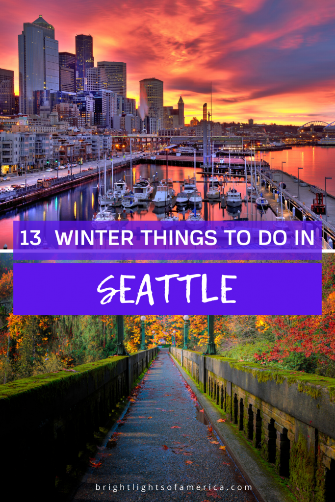 13 incredible things to do in Seattle in Winter. Don't miss this beautiful city just because it's a little chilly out. Seattle has lots to offer, even in the colder months!
