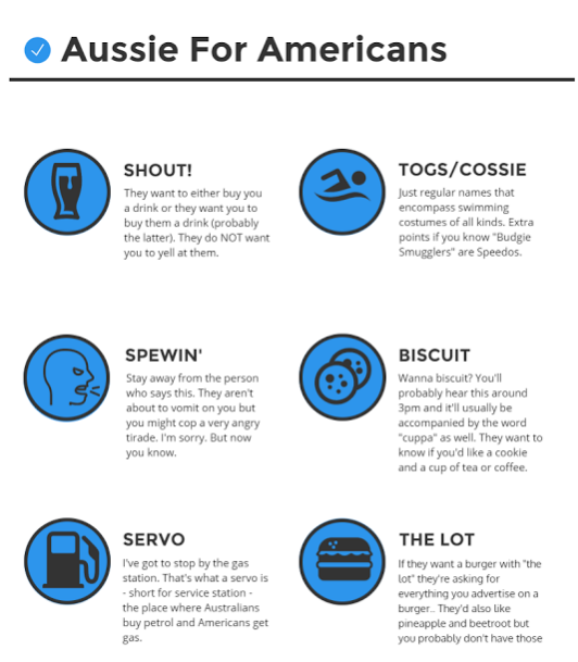 Australian Words and Phrases That Americans Don't Understand