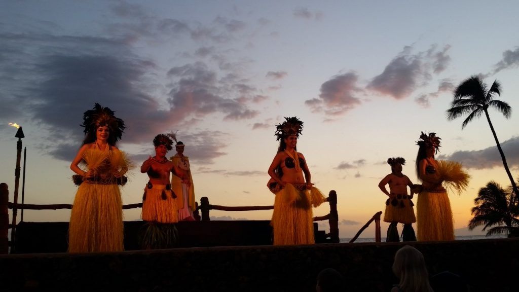 Hula dancers at a Maui Luau