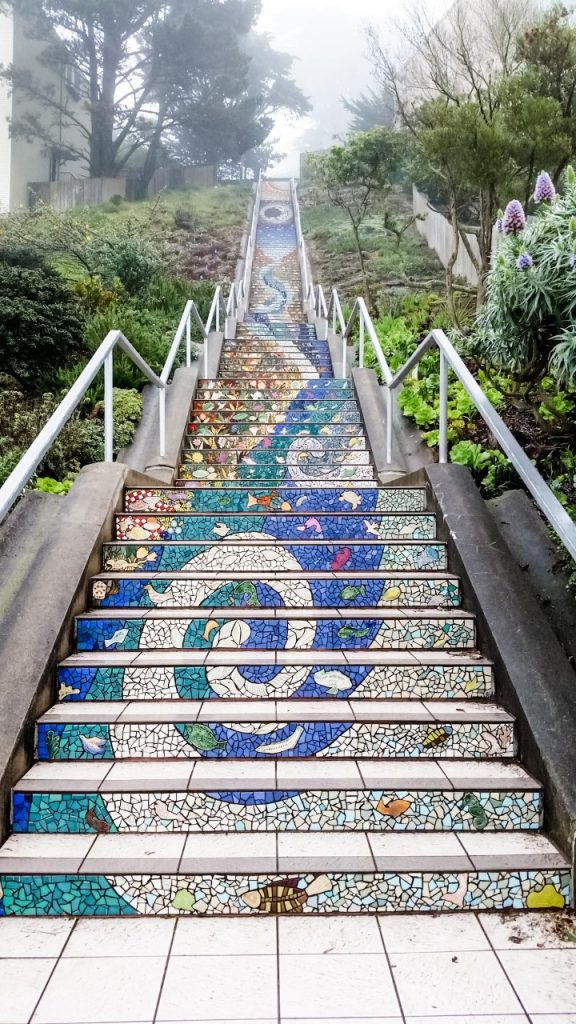 16th Avenue Tiled Steps mosaic in San Francisco