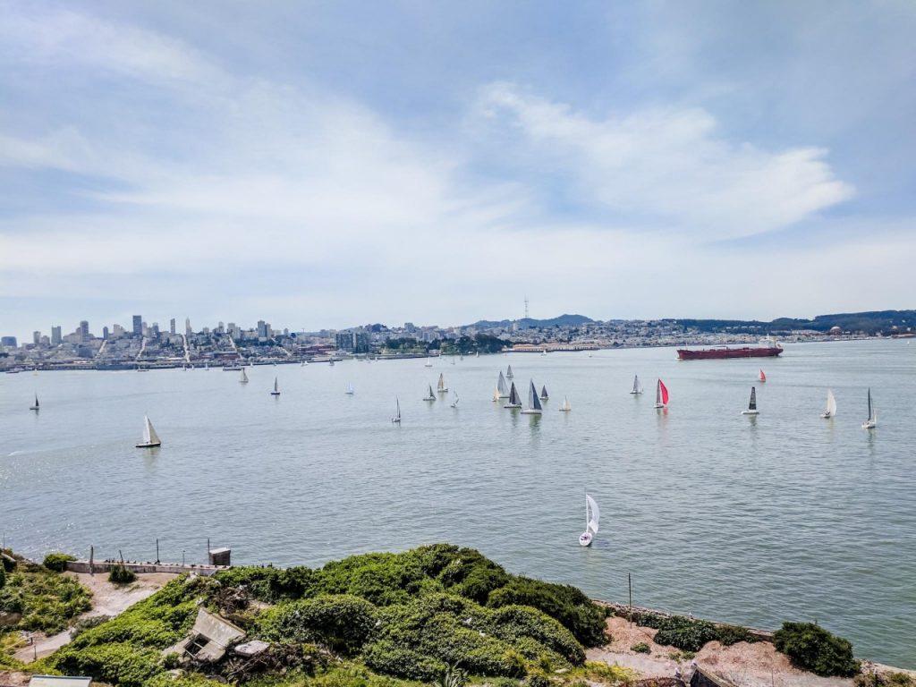 View of San Francisco Bay from Alcatraz Island