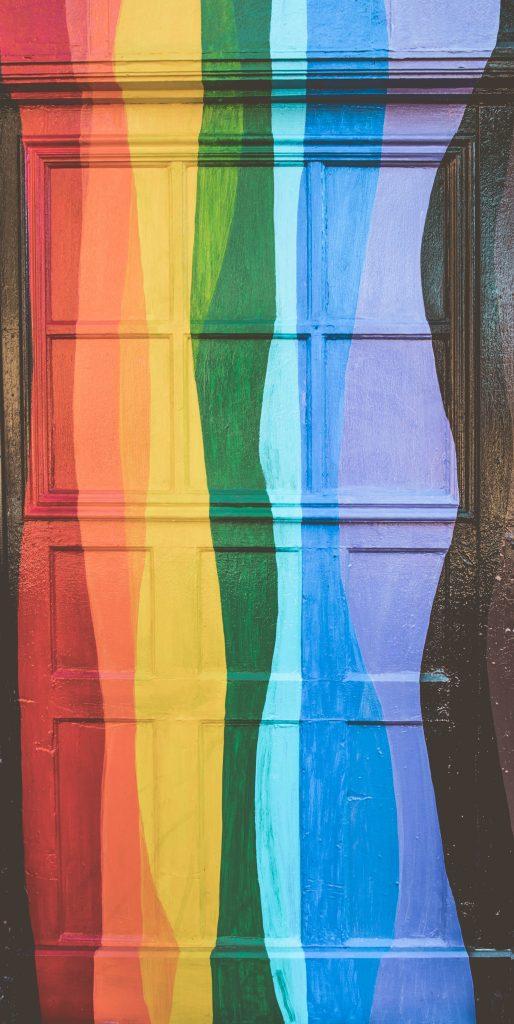 Rainbow door in the Castro, San Francisco