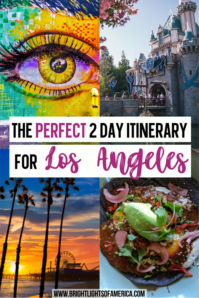 Make the most of your short trip to Los Angeles with this 2 day itinerary that includes all the highlights. | Los Angeles | 2 days in LA | LA Travel Tips | 2-day LA itinerary | Weekend in LA | How to spend 2 days in Los Angeles