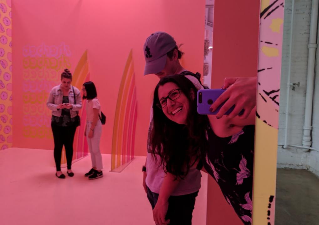 ice cream museum pastels
