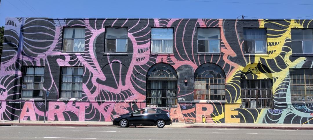 Street art in LA's Arts District