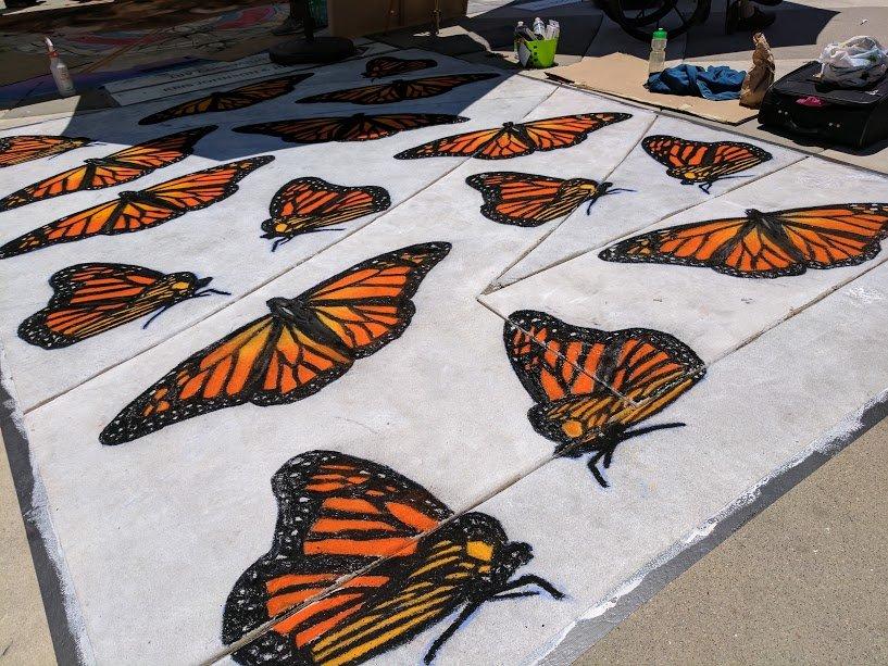 4th of July Redwood City Chalk Art Bianca Nandzik