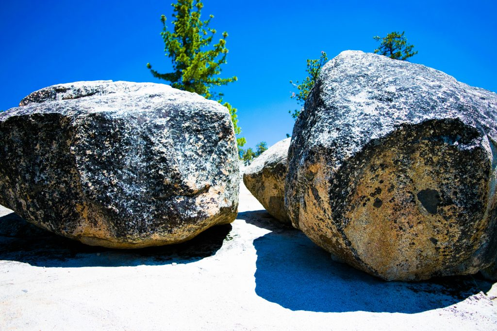 Two days in Yosemite National Park. Olmstead Boulders
