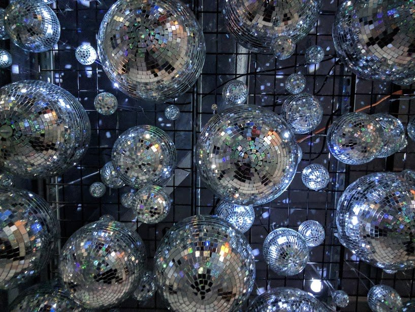 Discoballs at the Color Factory