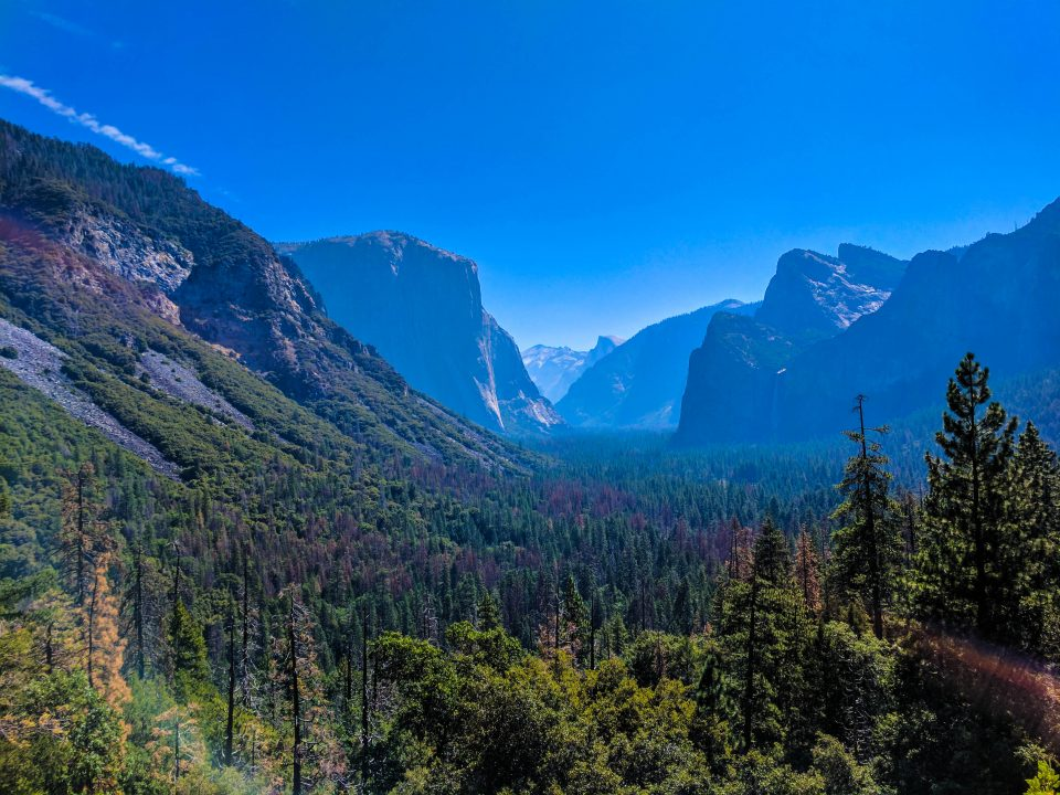Two days in Yosemite Wawona Tunnel View