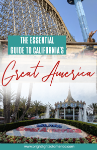 Essential Guide to California's Great America in Santa Clara. Find out everything you need to know before you visit the Santa Clara theme park, in the San Francisco Bay Area. #GreatAmerica #Thingstodowithkids