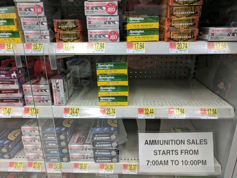 ammunition at walmart