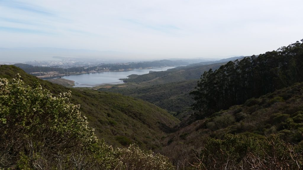 Hiking up Sneath Lane Trail gives a beautiful view of San Andreas Lake