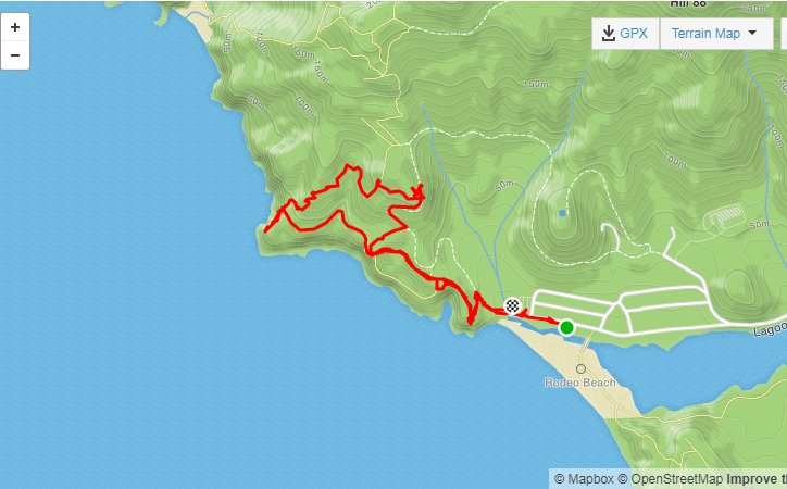 Rodeo Beach hike map