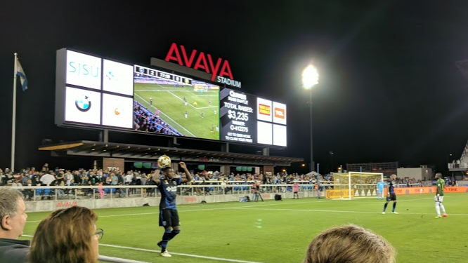 The Avaya Stadium bar is just one of the US drawcards