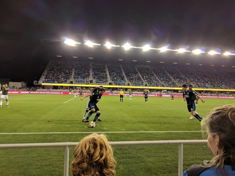 San Jose Earthquakes vs. Portland Timbers US soccer match