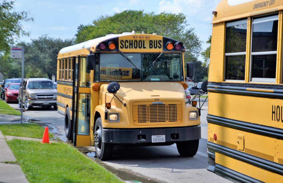 Familiarise yourself with the yellow school bus. You may see them while Driving in the US