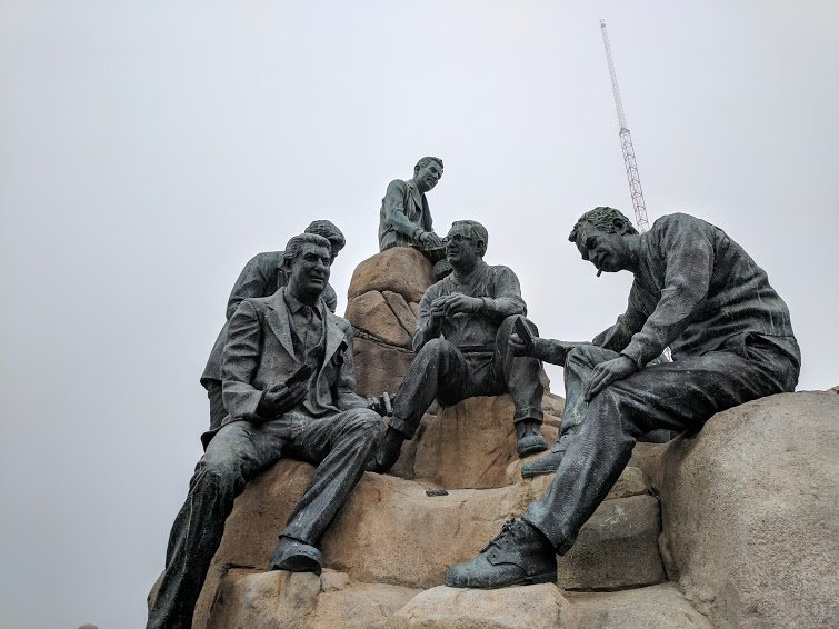 John Steinbeck and his friends on Cannery Row