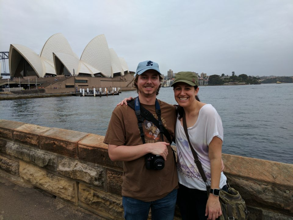 Mr M and I at the Sydney Opera House