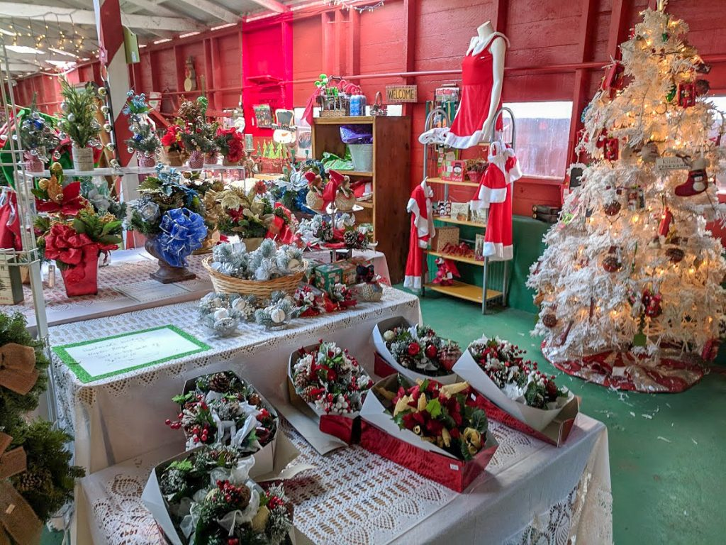 Items on sale at Christmas Tree Farm gift shop