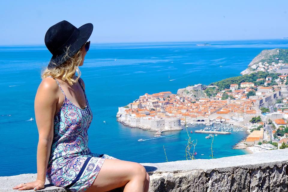 Alexandra Schmidt overlooking the water in Croatia