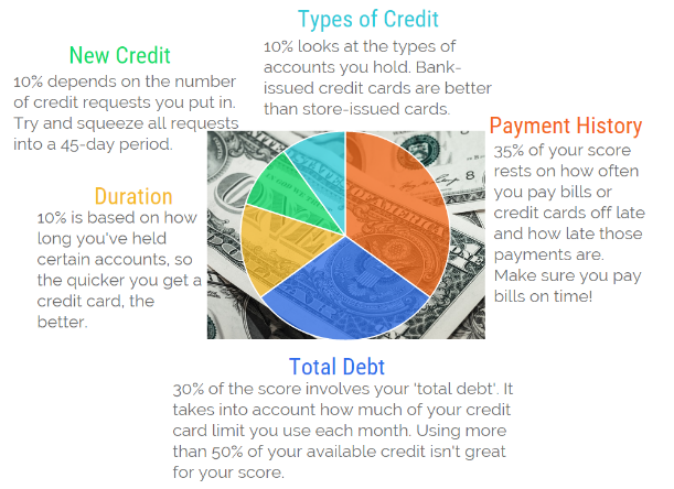 Pie Chart on US Credit History