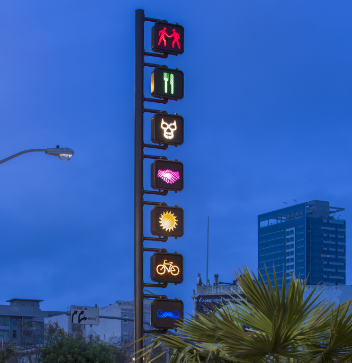 San Francisco light artwork Hand Signals