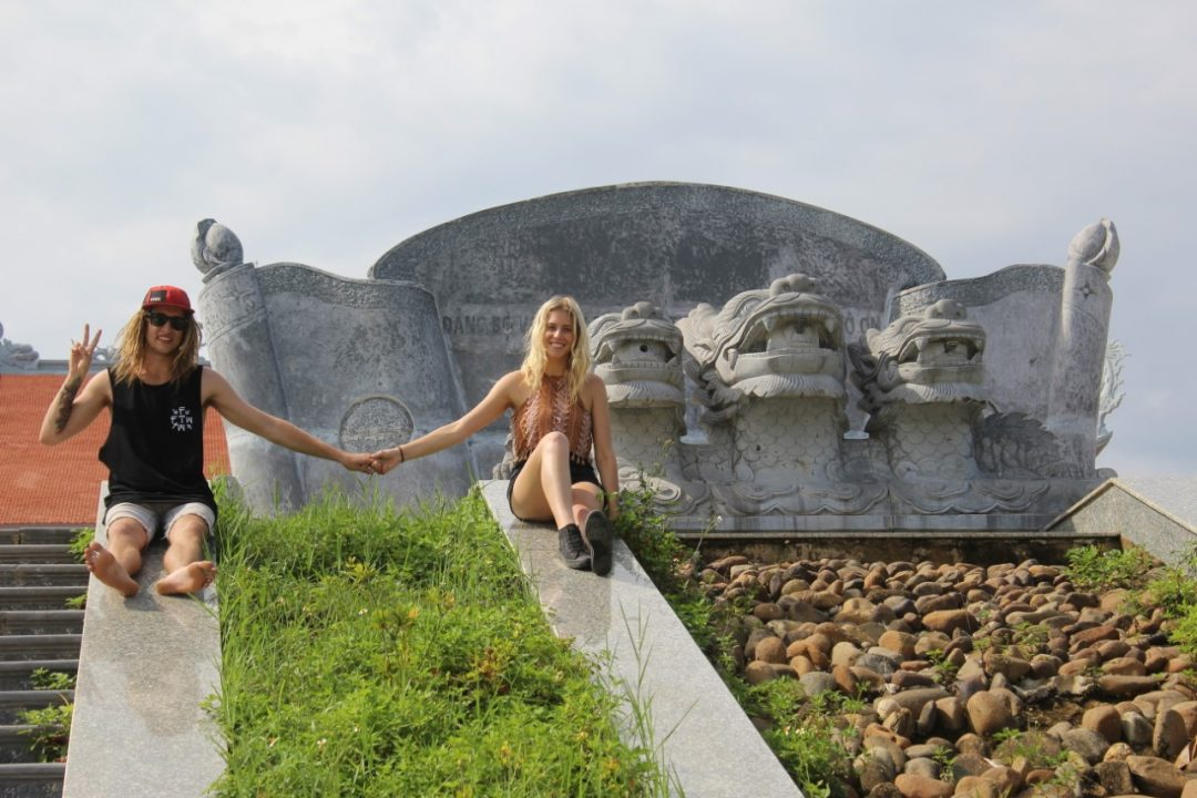 Monique and Dylan in Vietnam