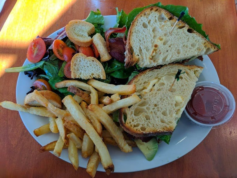 A huge lunch at Kelly's French Bakery