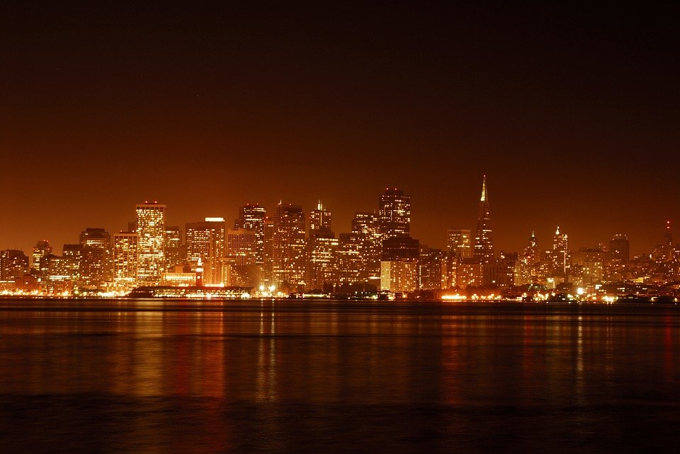 The city of San Francisco at night