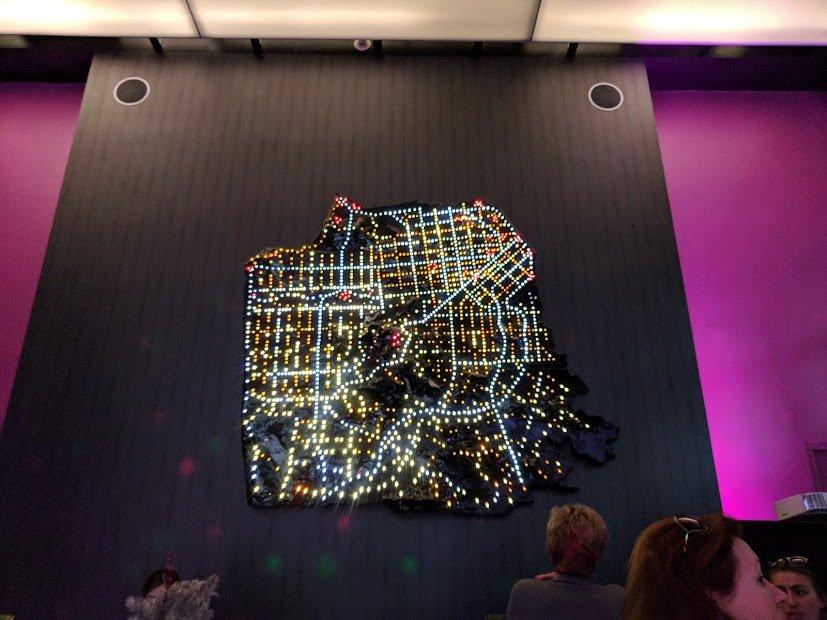 San Francisco map at night