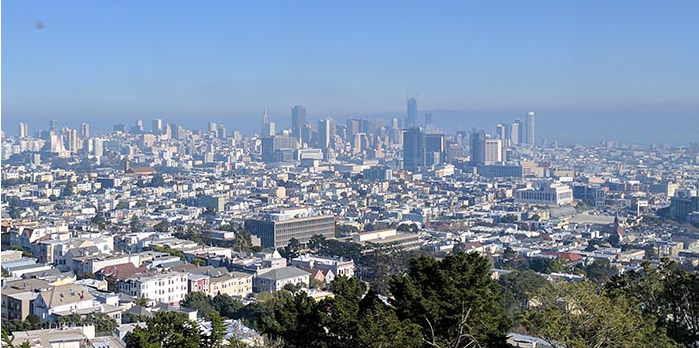 The San Francisco skyline