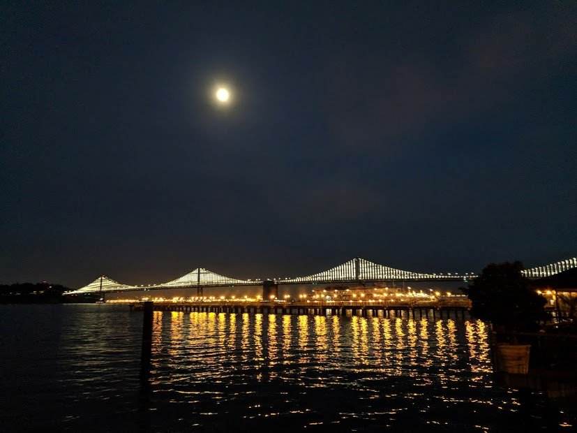The Bay Lights by light artist Leo Villareal