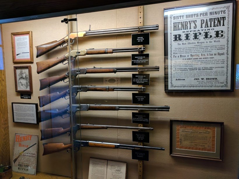 Winchester Rifles on display at Winchester House