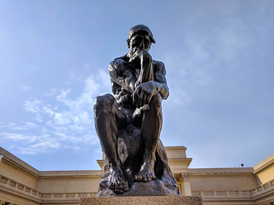 The Thinker sculpture by Auguste Rodin
