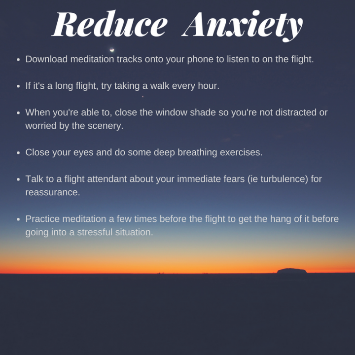 Tips to reduce flying anxiety