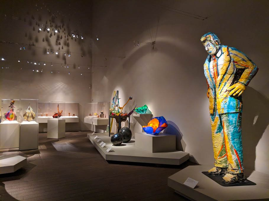 Colourful art pieces within the de Young Museum
