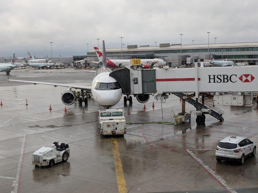 Plane boarding at Toronto Airport