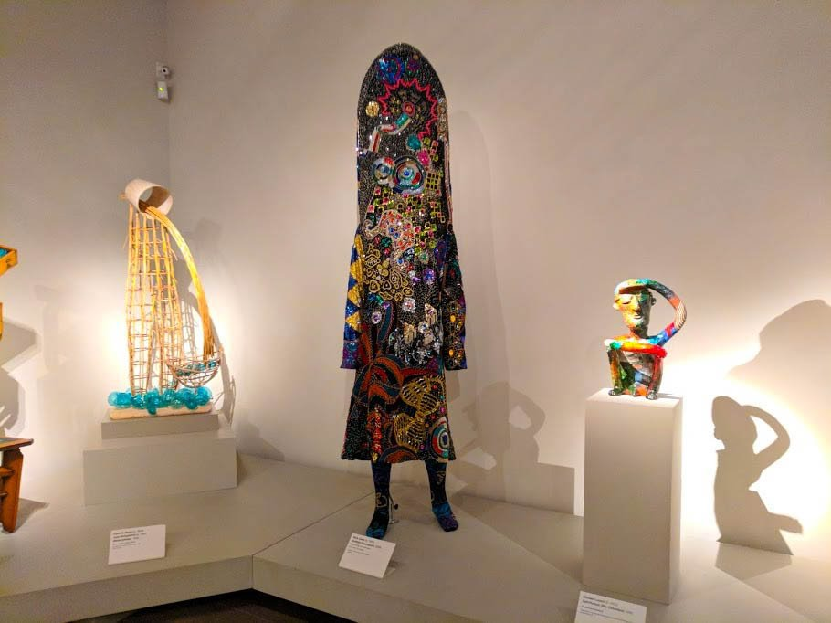 A soundsuit created by artist Nick Cave