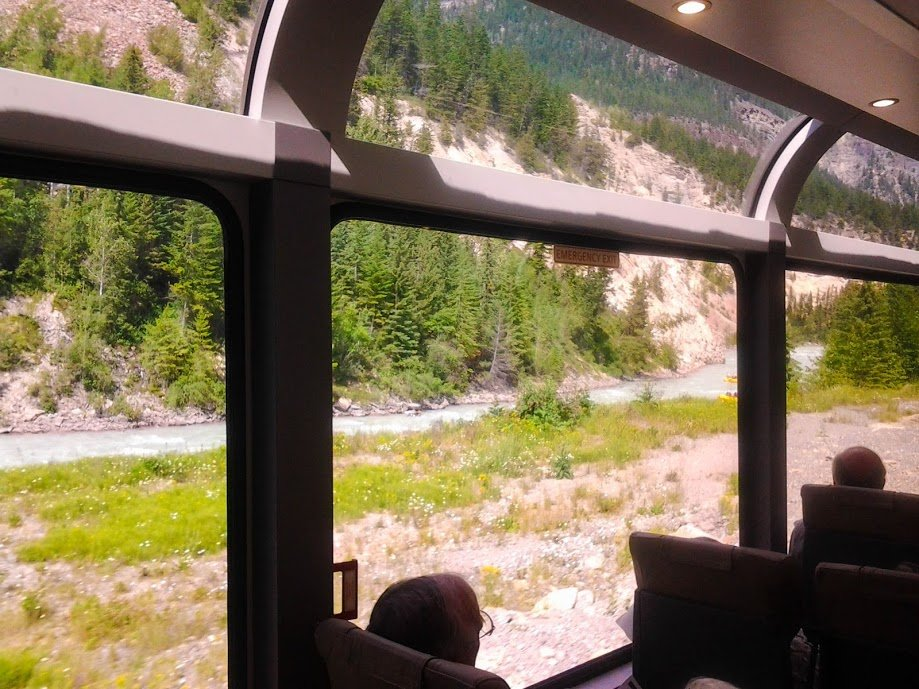 Explore Canada by train. View from the Rocky Mountaineer