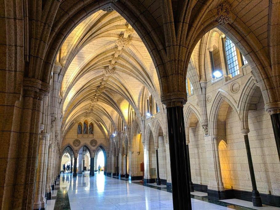 Hallway inside Ottawa's Parliament Building