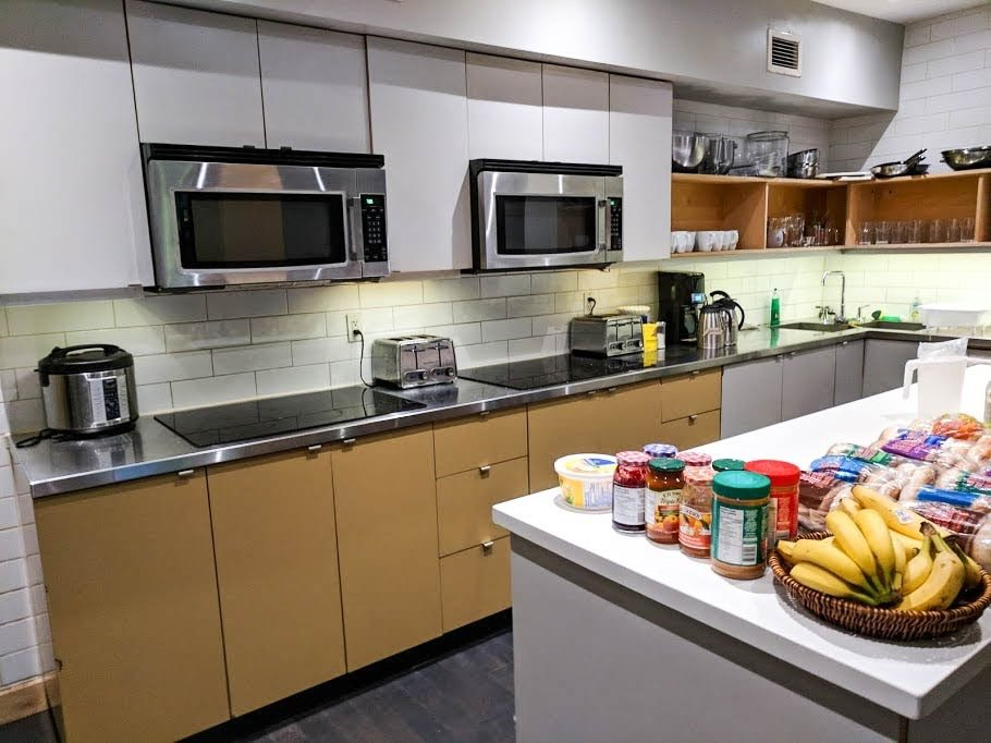 The kitchen of the Planet Traveler Hostel