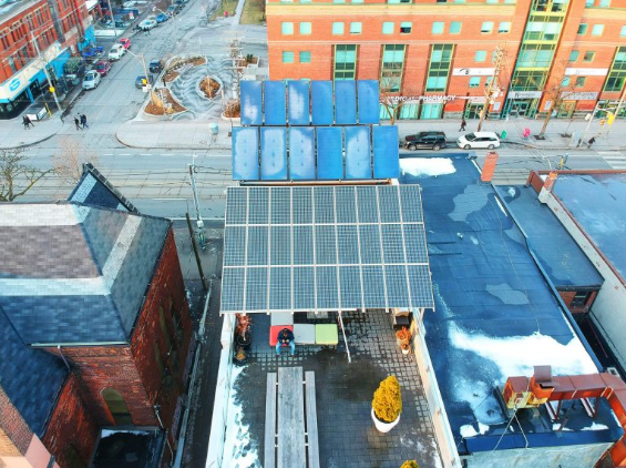 Toronto Eco Accommodation Solar Panels