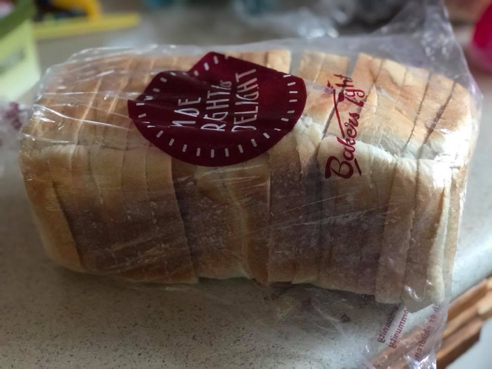 A loaf of white bread from Baker's Delight