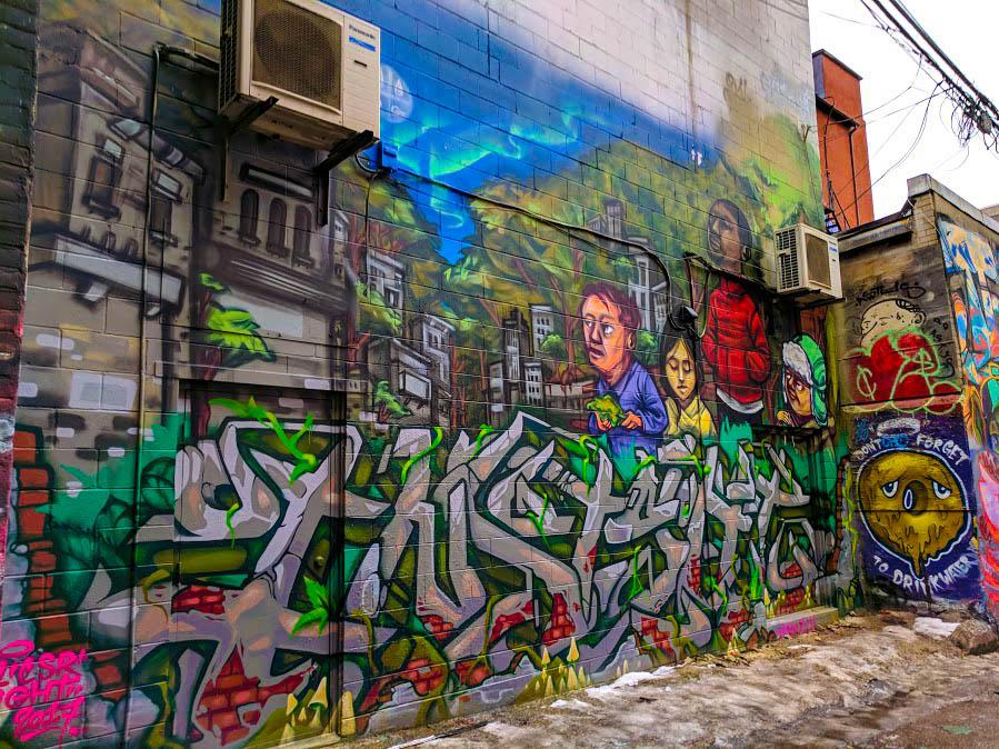 Toronto Street Artist's 2017 work, called Sight