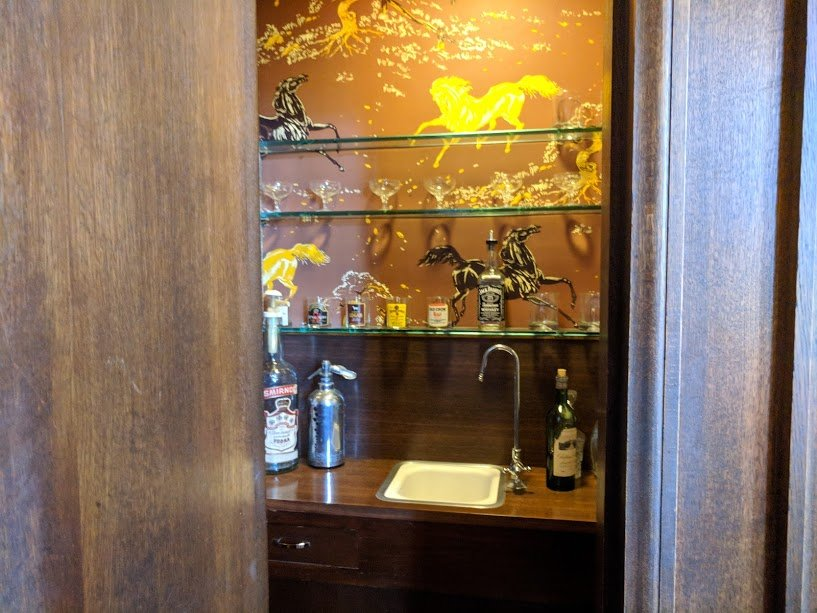 Filoli hidden drinks room