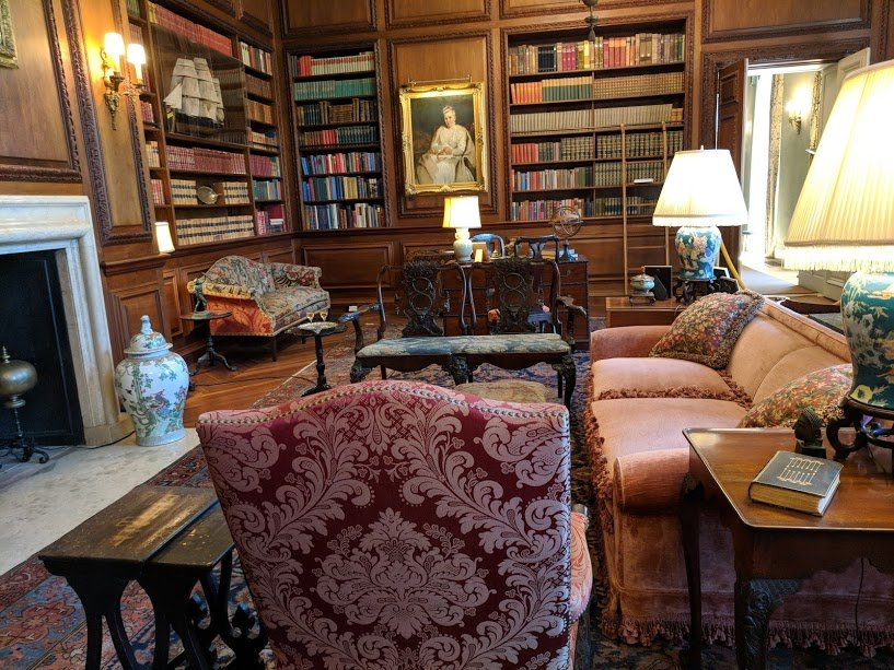 The library at Filoli