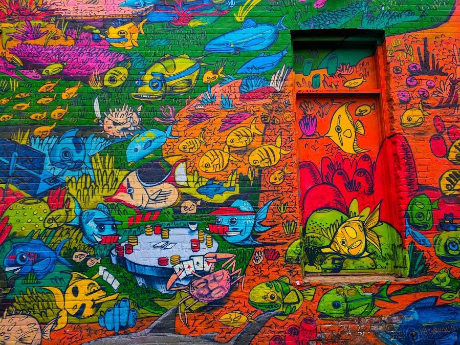 Toronto Street Art Uber5000 fish