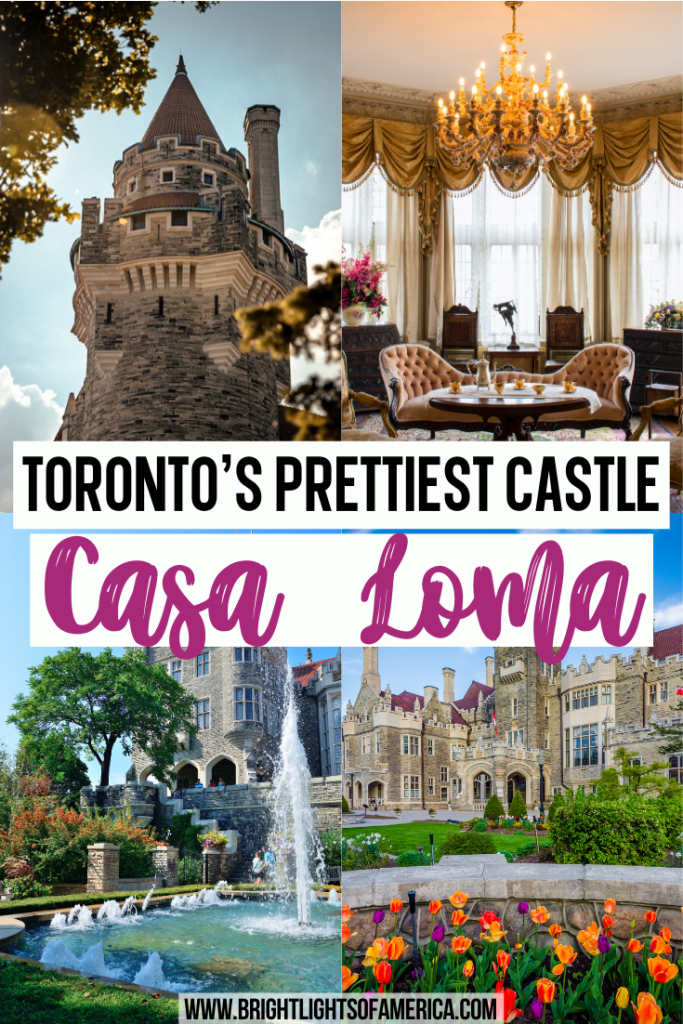 Visit Casa Loma, Toronto's prettiest castle. Don't miss the castle that bankrupted a millionaire! Visit to Casa Loma | Castles in Canada | Haunted places in Canada | Fairytale spots in Canada | Castles in Canada | Beautiful places in Canada | Beautiful spots in Toronto | Best places to visit in Toronto