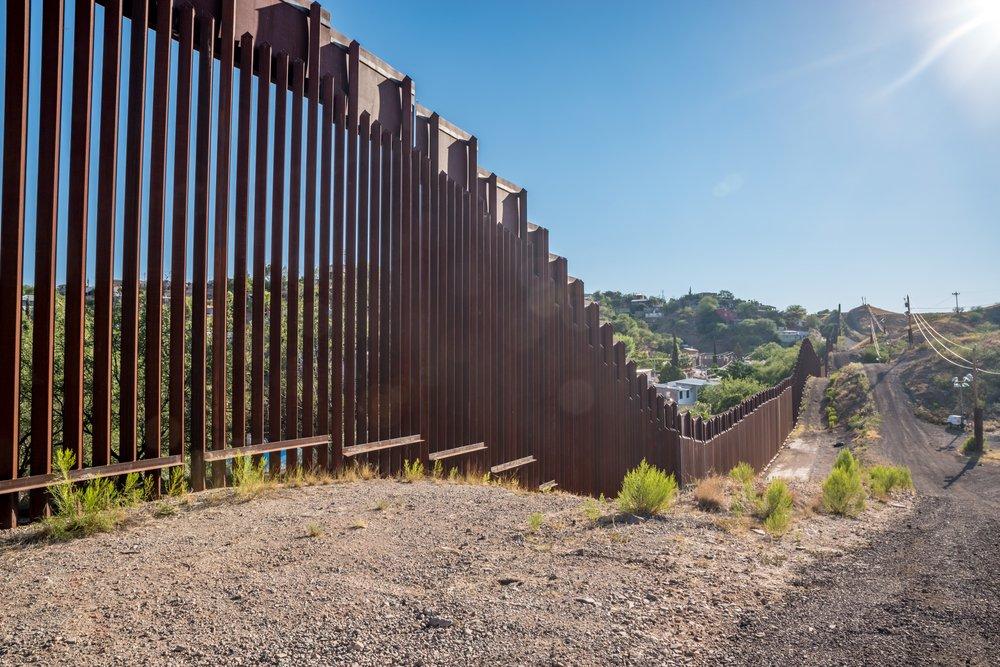 The border fence at Nogales, Arizona