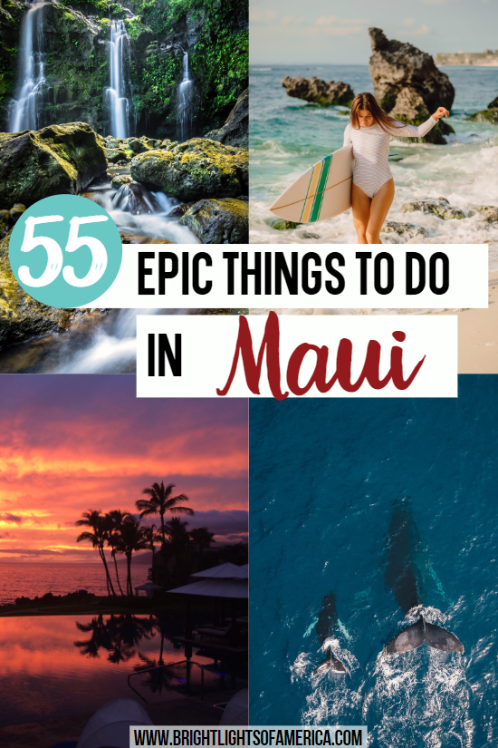 55 Epic things to do in Maui. For such a small Hawaiian island, Maui packs a punch. Find all the great things to see, do, and eat in one place. #Maui #Hawaii #VisitMaui